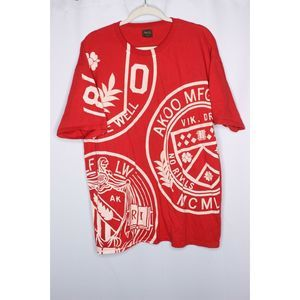 AKOO Mens Short Sleeved Graphic T-Shirt